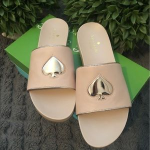 NWT and box Kate Spade slides sz8